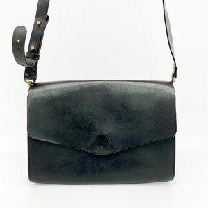 VERE VERTO Mox Leather Satchel Crossbody Bag Black